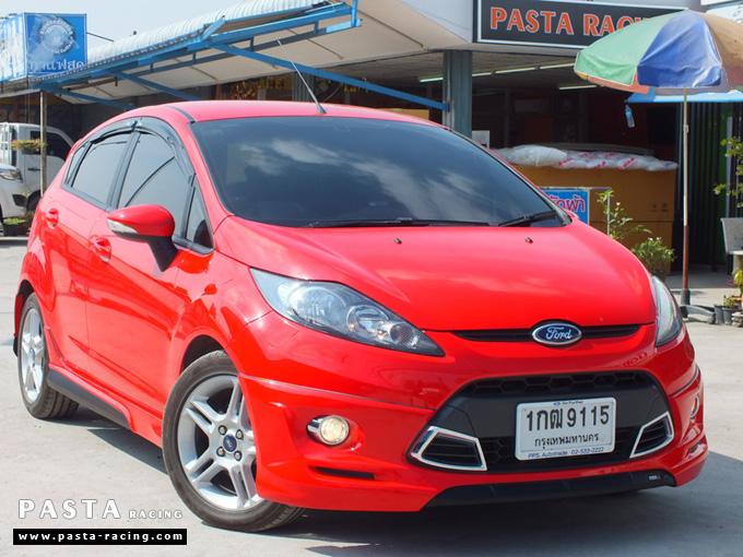 ชุดแต่ง เฟียสต้า Fiesta แต่งสวย 5dr 5 ประตู rbs ideo v2 สเกิร์ต 2011 2012 2013 2014 สีแดง คุณน้อง รูป 2