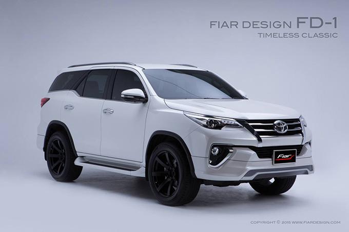 ชุดแต่ง สเกิร์ต แต่งรถ new fortuner 2015 2016 2017 2018 fiar design fd-1 รังสิต ลำลูกกา ปทุมธานี กรุงเทพ โปรชัวร์ ด้านหน้า รูป 1