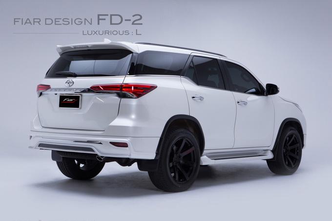 ชุดแต่ง สเกิร์ต แต่งรถ new fortuner 2015 2016 2017 2018 fiar design fd-2l รังสิต ลำลูกกา ปทุมธานี กรุงเทพ โปรชัวร์ ด้านหลัง รูป 3