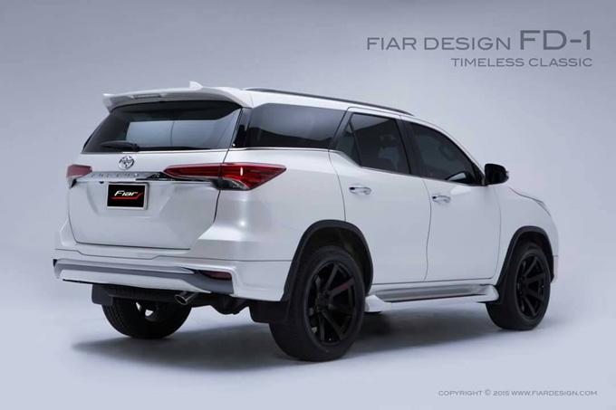 ชุดแต่ง สเกิร์ต แต่งรถ new fortuner 2015 2016 2017 2018 fiar design fd-1 รังสิต ลำลูกกา ปทุมธานี กรุงเทพ โปรชัวร์ ด้านหลัง รูป 2