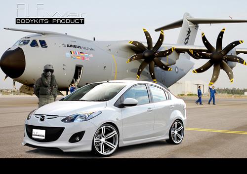 ชุดแต่ง สเกิร์ต รอบคัน สปอยเลอร์ มาสด้า  Mazda 2 Sedan 4 ประตู Filewar plus รังสิต ลำลูกกา ปทุมธานี กรุงเทพ รูป 1