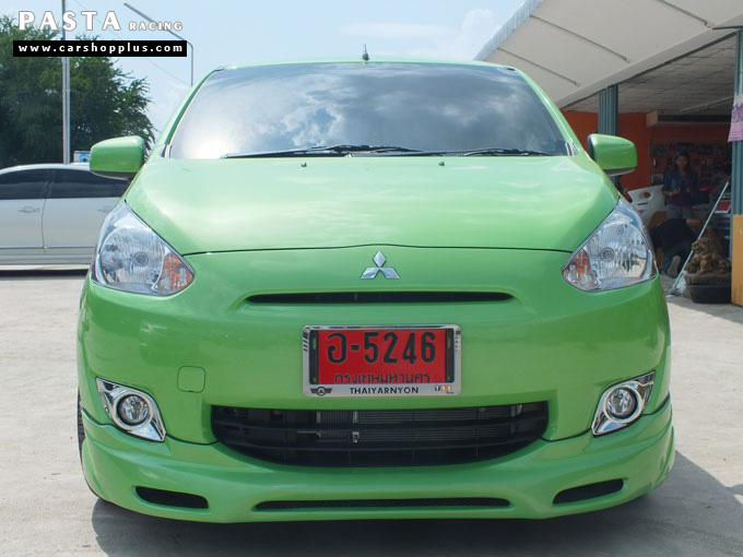 ชุดแต่ง สเกิร์ต มิราจ Mirage Dreamer + ท้าย Evo X ท่อคู่ สีเขียว คุณแอน รูป 1