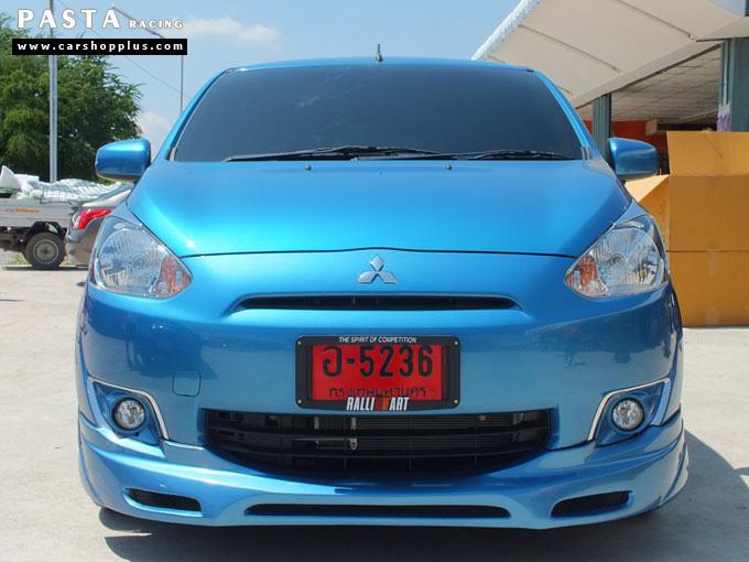 ชุดแต่ง สเกิร์ต มิราจ Mirage Dreamer + ท้าย Evo X ท่อคู่ สีฟ้า คุณธนชาติ รูป 1