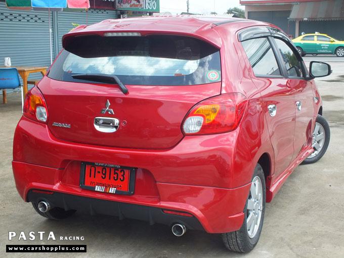 ชุดแต่ง Mirage มิราจ Evo Plusmo สเกิร์ต รอบคัน สีแดง + ครอบไฟตัดหมอก + ครอบมือจับ คุณชาติ รูปที่ 7