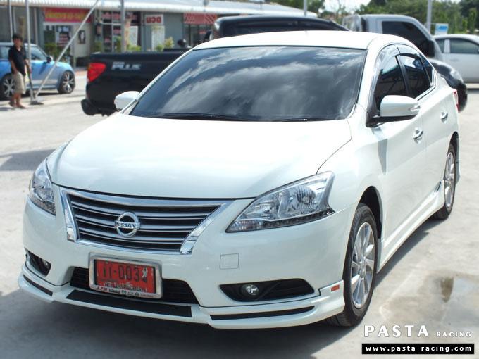 ชุดแต่ง Nissan Sylphy Access ซิลฟี่ สเกิร์ต รอบคัน นิสสัน รังสิต ลำลูกกา ปทุมธานี กรุงเทพฯ ขาวมุก คุณจันทร์สุดา รูป 3