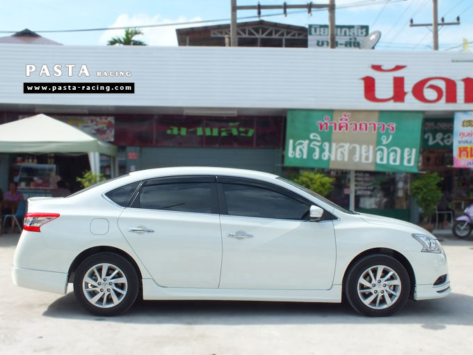 ชุดแต่ง Nissan Sylphy Access ซิลฟี่ สเกิร์ต รอบคัน นิสสัน รังสิต ลำลูกกา ปทุมธานี กรุงเทพฯ ขาวมุก คุณจันทร์สุดา รูป 5