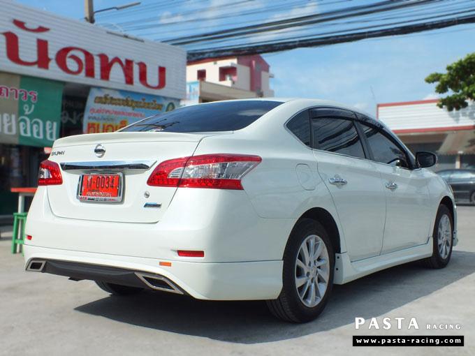 ชุดแต่ง Nissan Sylphy Access ซิลฟี่ สเกิร์ต รอบคัน นิสสัน รังสิต ลำลูกกา ปทุมธานี กรุงเทพฯ ขาวมุก คุณจันทร์สุดา รูป 6