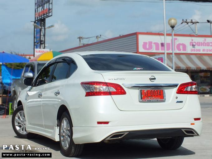 ชุดแต่ง Nissan Sylphy Access ซิลฟี่ สเกิร์ต รอบคัน นิสสัน รังสิต ลำลูกกา ปทุมธานี กรุงเทพฯ ขาวมุก คุณจันทร์สุดา รูป 8