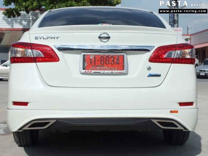 ชุดแต่ง Nissan Sylphy Access ซิลฟี่ สเกิร์ต รอบคัน นิสสัน รังสิต ลำลูกกา ปทุมธานี กรุงเทพฯ ขาวมุก คุณจันทร์สุดา รูป 9