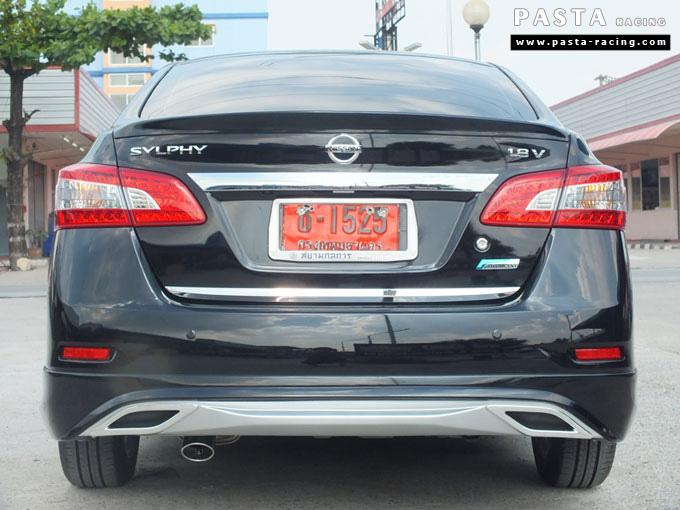 ชุดแต่ง Nissan Sylphy Access ซิลฟี่สเกิร์ต รอบคัน นิสสัน ดำ คุณนา รูป 10
