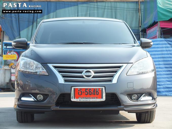 ชุดแต่ง Nissan Sylphy Access ซิลฟี่ 2013 14 สเกิร์ต รอบคัน นิสสัน รังสิต ลำลูกกา ปทุมธานี กรุงเทพฯ สีเทาม่วง คุณพงศ์พล รูป 1