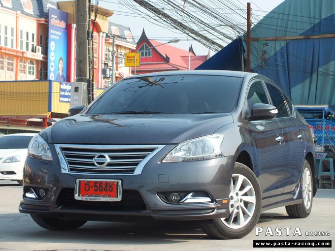 ชุดแต่ง Nissan Sylphy Access ซิลฟี่ 2013 14 สเกิร์ต รอบคัน นิสสัน รังสิต ลำลูกกา ปทุมธานี กรุงเทพฯ สีเทาม่วง คุณพงศ์พล รูป 2