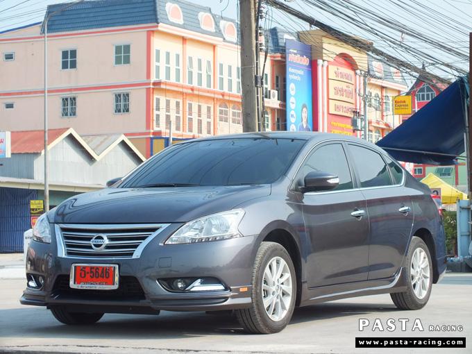 ชุดแต่ง Nissan Sylphy Access ซิลฟี่ 2013 14 สเกิร์ต รอบคัน นิสสัน รังสิต ลำลูกกา ปทุมธานี กรุงเทพฯ สีเทาม่วง คุณพงศ์พล รูป 3