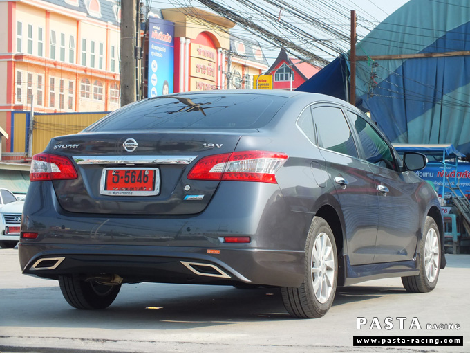 ชุดแต่ง Nissan Sylphy Access ซิลฟี่ 2013 14 สเกิร์ต รอบคัน นิสสัน รังสิต ลำลูกกา ปทุมธานี กรุงเทพฯ สีเทาม่วง คุณพงศ์พล รูป 4