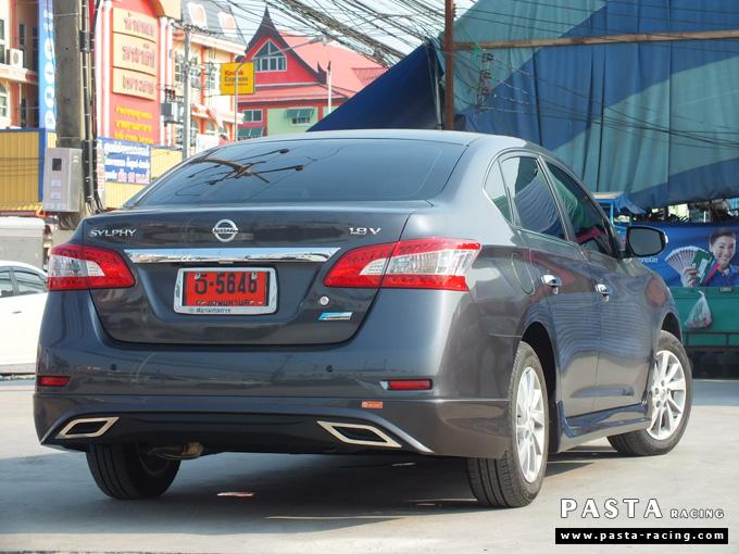 ชุดแต่ง Nissan Sylphy Access ซิลฟี่ 2013 14 สเกิร์ต รอบคัน นิสสัน รังสิต ลำลูกกา ปทุมธานี กรุงเทพฯ สีเทาม่วง คุณพงศ์พล รูป 5