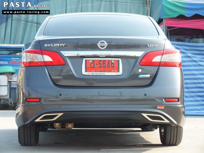 ชุดแต่ง Nissan Sylphy Access ซิลฟี่ 2013 14 สเกิร์ต รอบคัน นิสสัน รังสิต ลำลูกกา ปทุมธานี กรุงเทพฯ สีเทาม่วง คุณพงศ์พล รูป 6