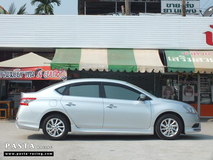 ชุดแต่ง Nissan Sylphy Access ซิลฟี่ 2013 14 สเกิร์ต รอบคัน นิสสัน รังสิต ลำลูกกา ปทุมธานี กรุงเทพฯ สีบรอนซ์เงิน คุณสุระศักดิ์ รูป 2