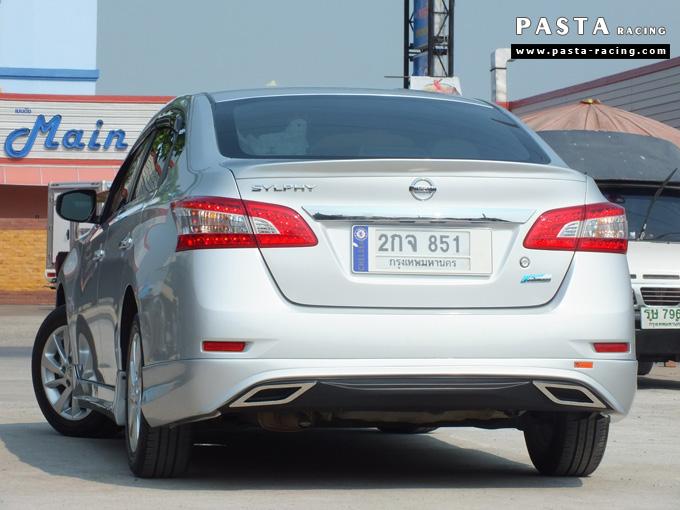 ชุดแต่ง Nissan Sylphy Access ซิลฟี่ 2013 14 สเกิร์ต รอบคัน นิสสัน รังสิต ลำลูกกา ปทุมธานี กรุงเทพฯ สีบรอนซ์เงิน คุณสุระศักดิ์ รูป 4