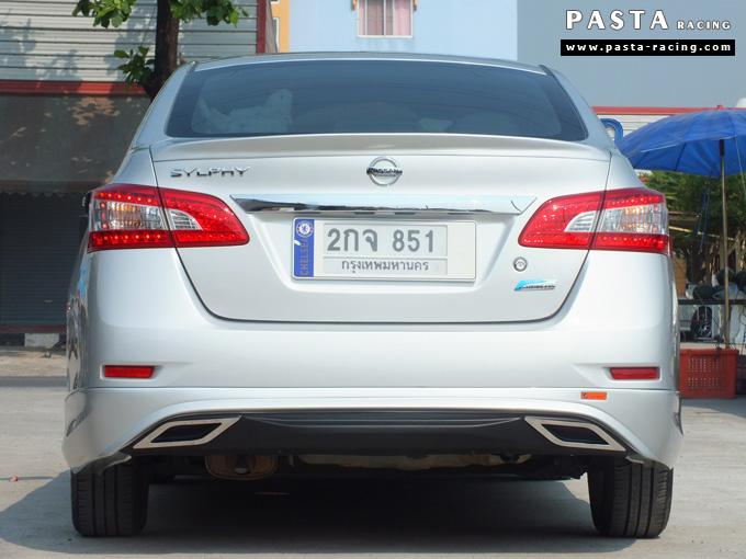 ชุดแต่ง Nissan Sylphy Access ซิลฟี่ 2013 14 สเกิร์ต รอบคัน นิสสัน รังสิต ลำลูกกา ปทุมธานี กรุงเทพฯ สีบรอนซ์เงิน คุณสุระศักดิ์ รูป 5