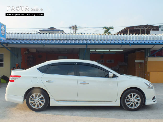 ชุดแต่ง Nissan Sylphy Access ซิลฟี่สเกิร์ต รอบคัน นิสสัน ขาวมุก คุณขวัญตา รูป 4